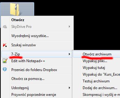 Jak rozpakować plik zip za pomocą 7zip