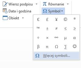 Symbole greckie w Microsoft Word 2013