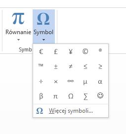 Wstaw symbol w Microsoft Word